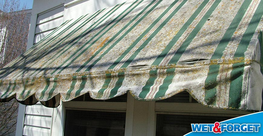 clean stained awning