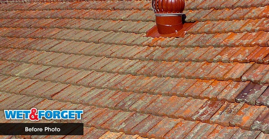 Cleaning A Clay Roof With Wet U0026 Forget Outdoor.