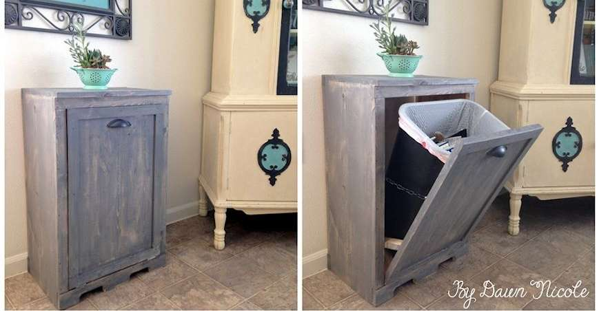 Genial Kitchen Trash Can Cabinet