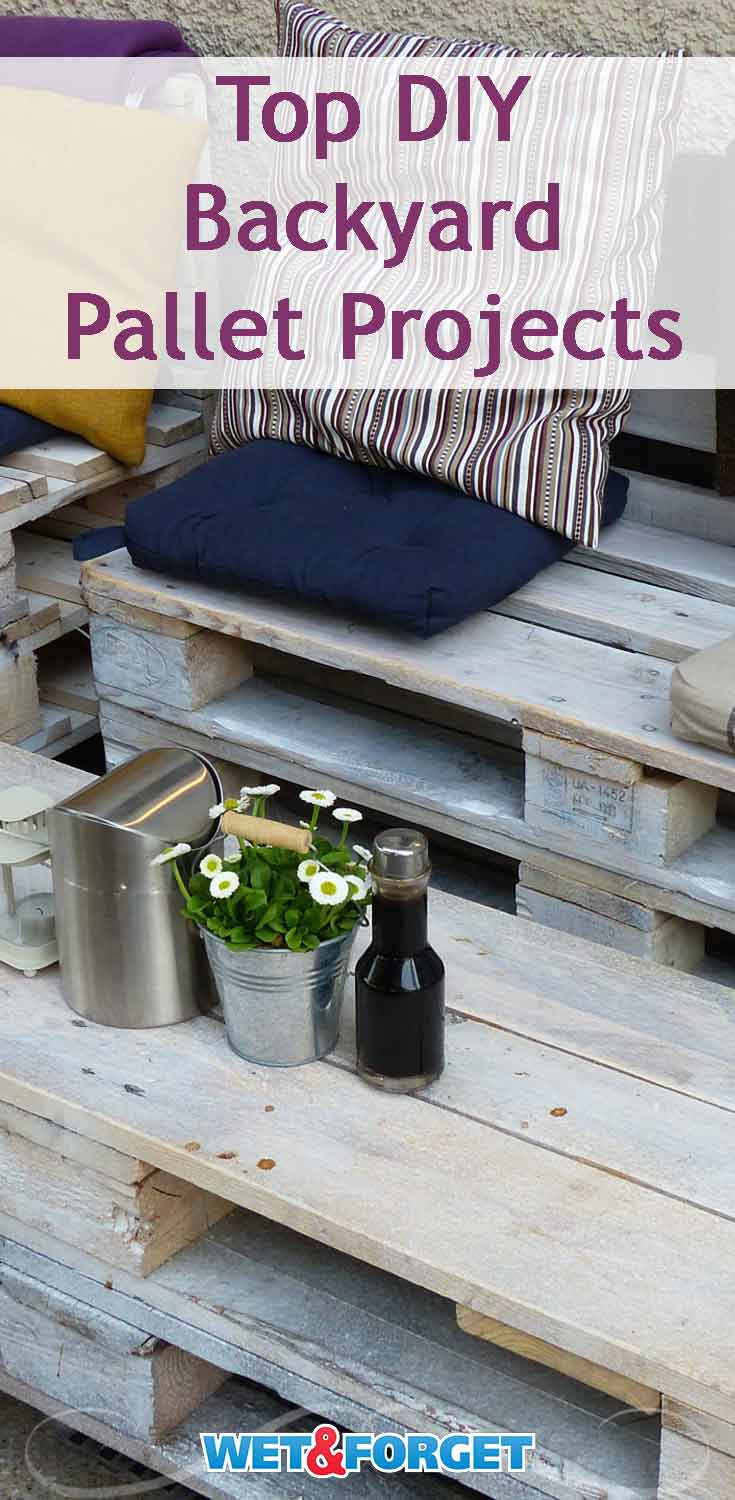 Get crafty with these easy DIY backyard pallet projects!