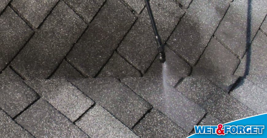 Amazing Erase Black Streaks On Your Asphalt Shingles With Wet U0026 Forget Outdoor