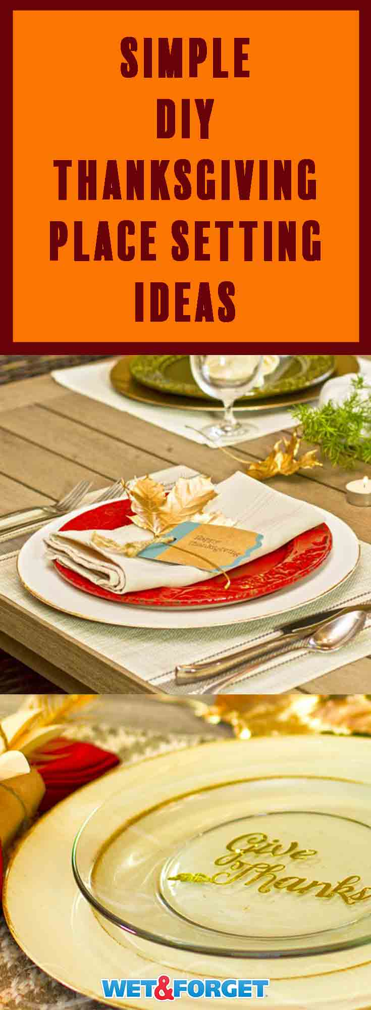 Finish up your Thanksgiving decorating this weekend by crafting your place settings with our tutorials!