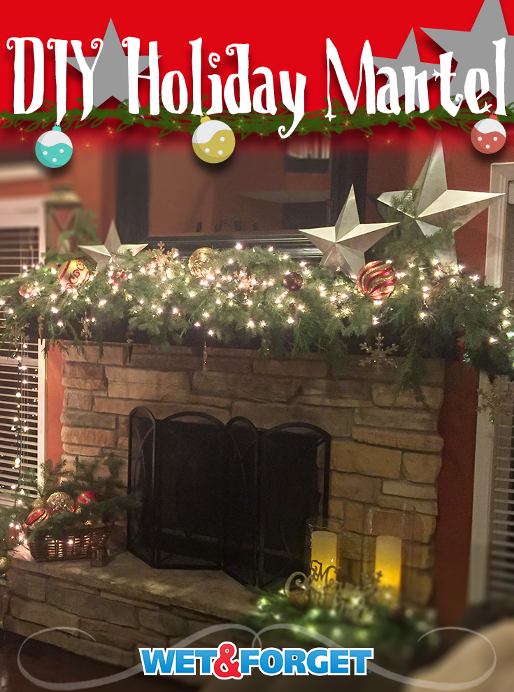 DIY Christmas Holiday Mantel