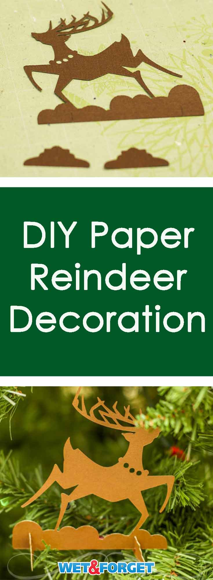 This paper reindeer make a great ornament or table decoration! Learn how to make it with our quick tutorial.