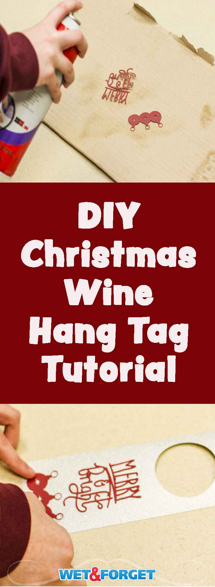 Personalize your holiday wine gifts with this quick and easy DIY hang tag!