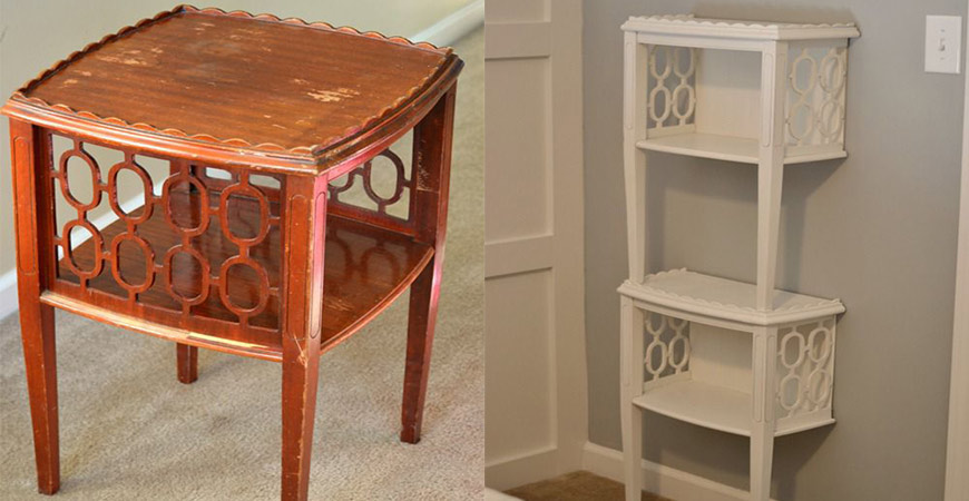 End Table DIY Shelving Unit