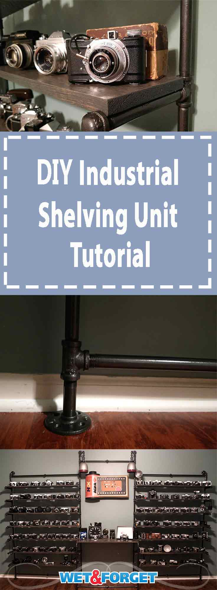 DIY Industrial Shelving Unit Tutorial