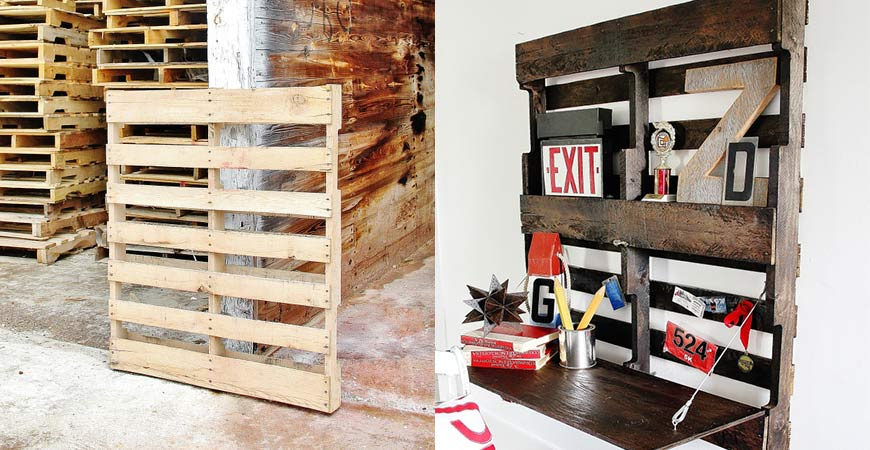 Easy pallet desk DIY project