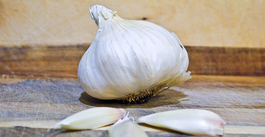 Garlic is an easy veggie to grow in small gardens.