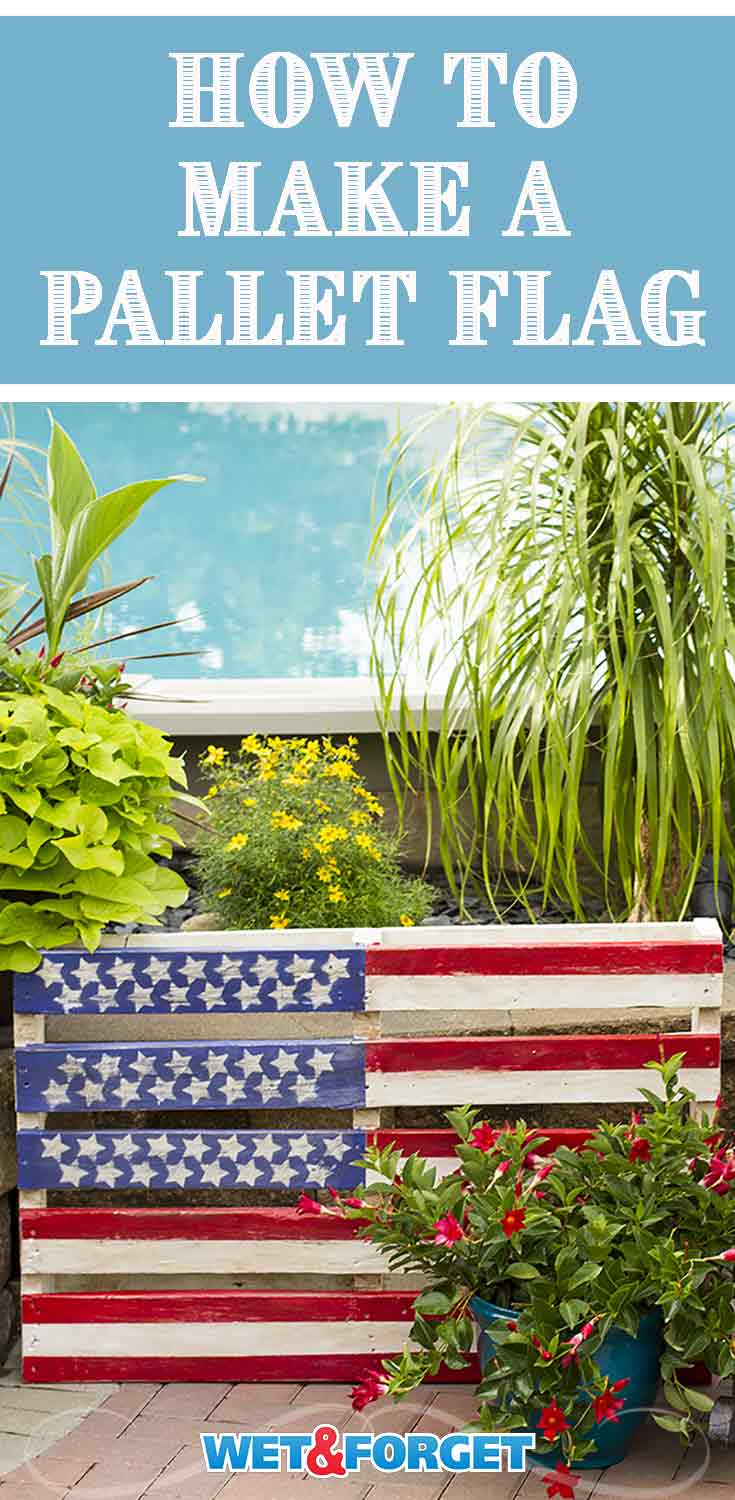 Welcome friends and family to your patriotic celebration with a pallet flag! Our step by step tutorial makes crafting this flag easy!