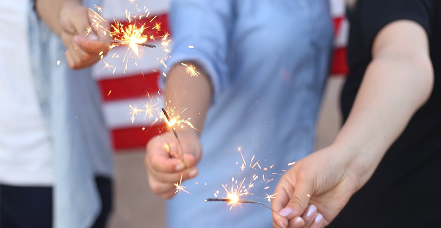 Stock up on sparklers for when it gets dark!
