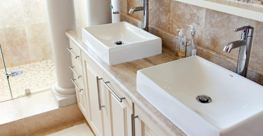 How To Organize Your Bathroom Vanity Counter And Cabinets A Messy Unorganized