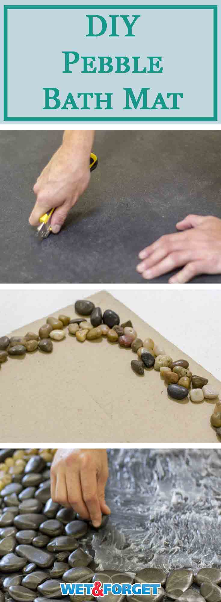 Renovating your bathroom takes too much time and the expenses add up quickly. This easy DIY pebble bath mat can update the look of your bathroom without spending too much. Check out our quick step by step pebble bath mat tutorial!
