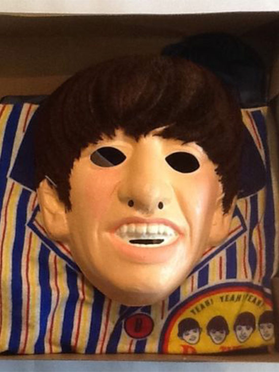 A mask of the Beatles' drummer Ringo Starr