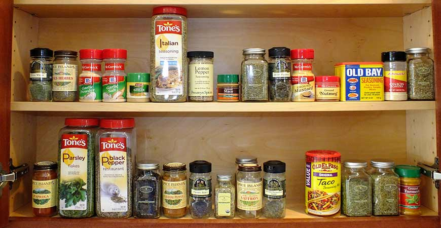 Clean out your spice cabinet of any expired herbs and spices.