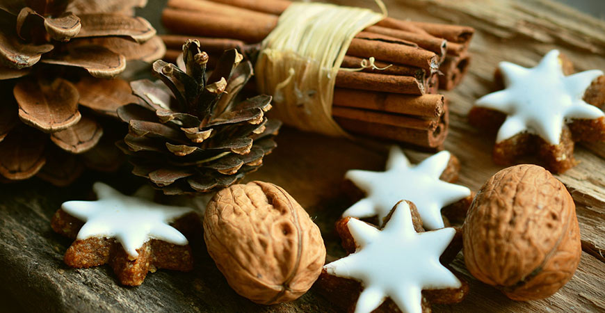 Adding vanilla and cinnamon scents to your home are a great way to welcome guests!