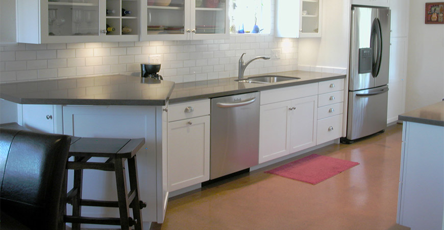 Concrete is another great flooring option for your kitchen