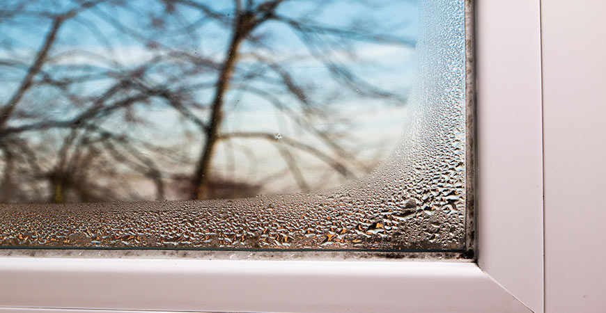 how to stop moisture on windows in winter