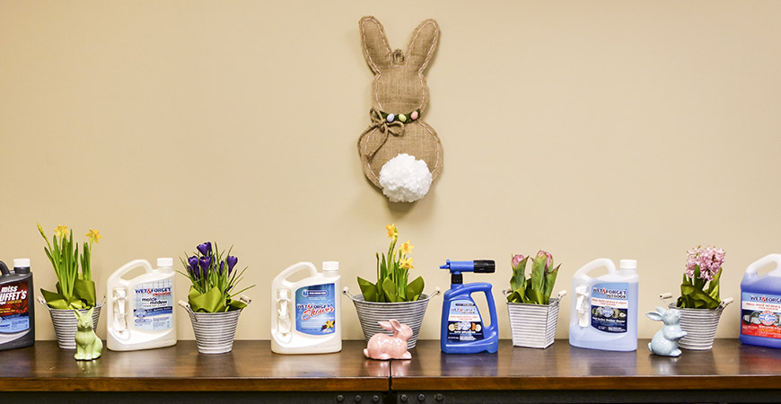 Decorate your wall or door with this DIY Easter bunny!