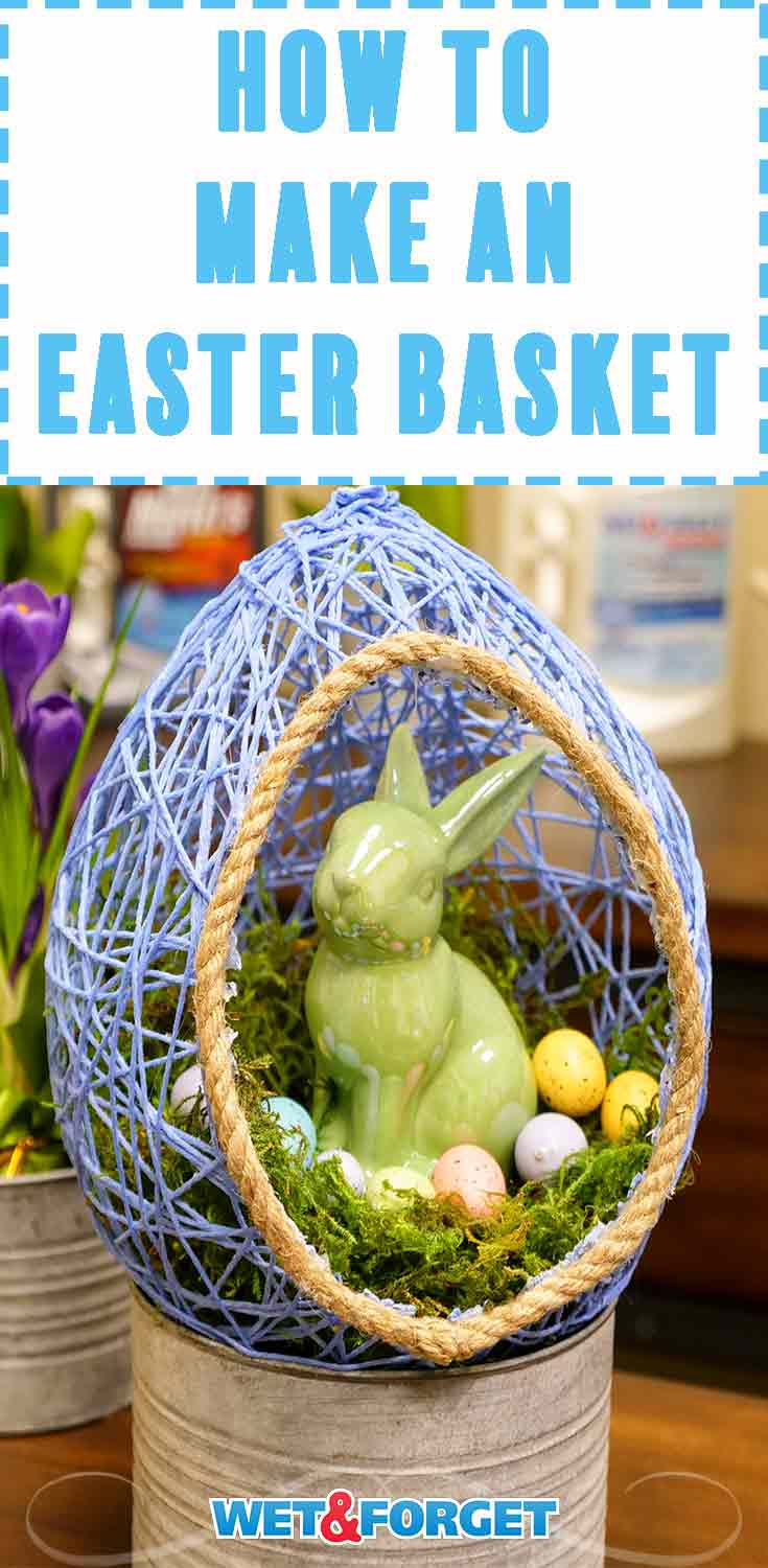 Don't spend extra money buying decorative Easter baskets this year! Learn how to make your own DIY Easter basket with our quick tutorial.