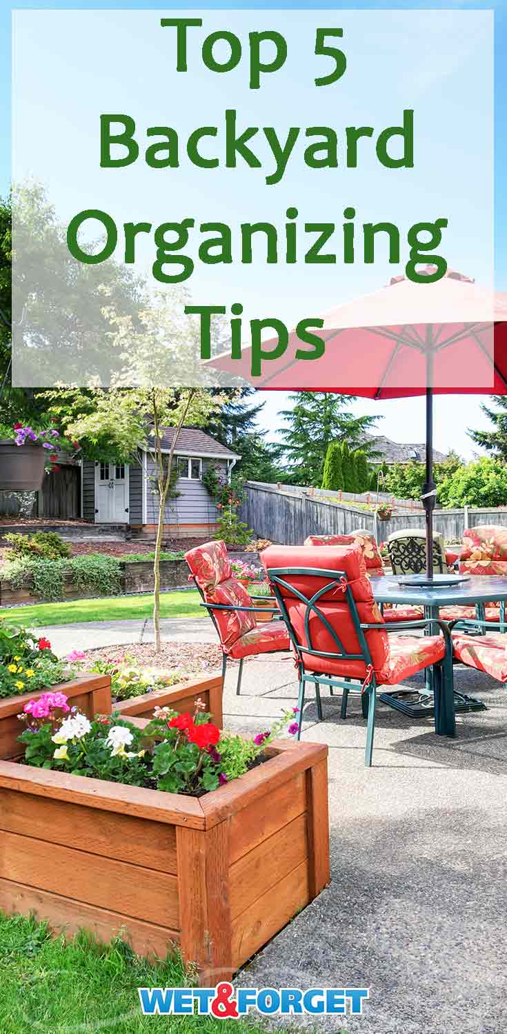 Get your backyard ready for spring and summer with these quick organizing tips!