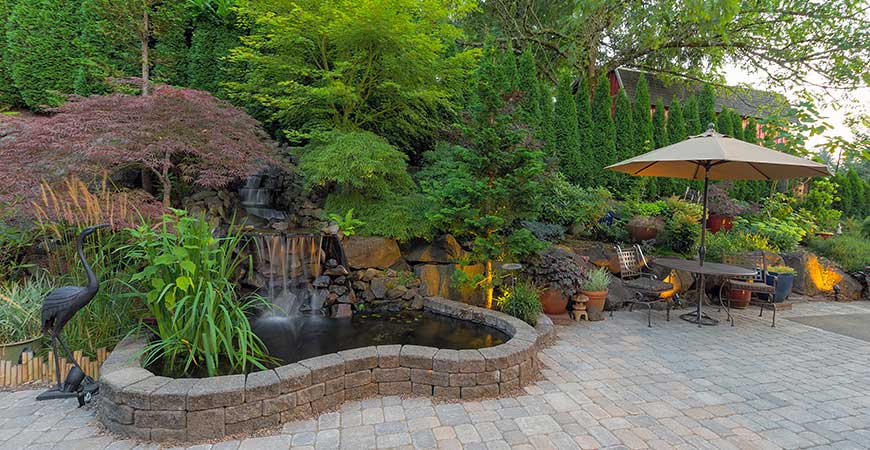Water features will create a cool oasis in your backyard