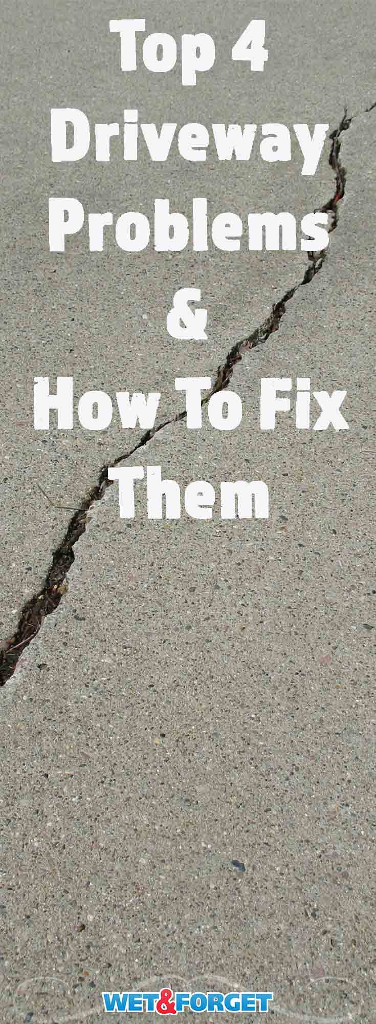 Many driveway problems can be fixed easily! Read up on the top 4 driveway problems and follow these simple solutions to repair your drive.
