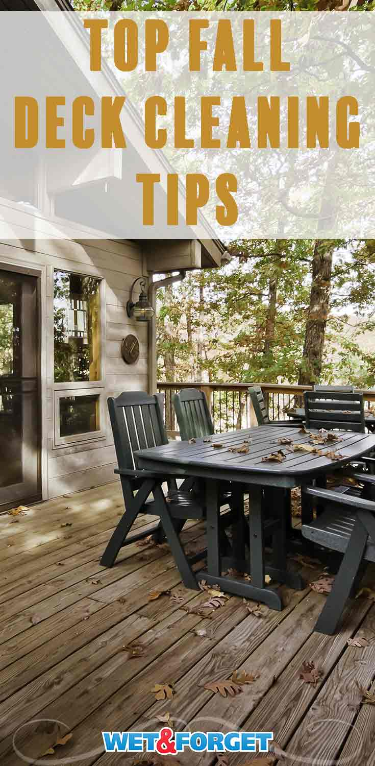 Fall has arrived so it is the perfect time to clean your deck! Make deck cleaning a breeze with these quick tips.