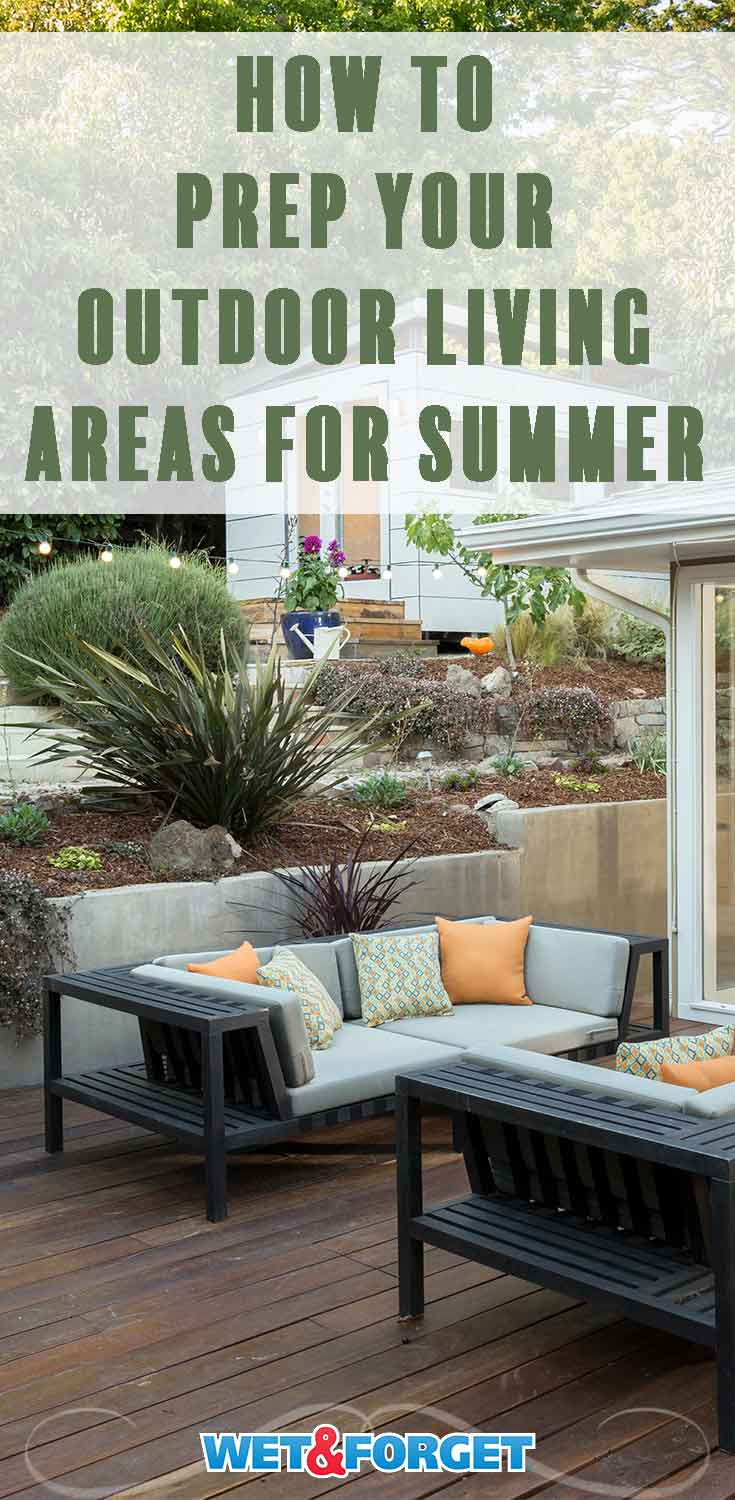 Get your outdoor living spaces clean and ready for summer with this quick and easy guide!
