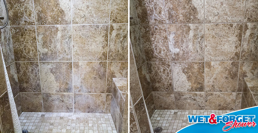 travertine soap scum