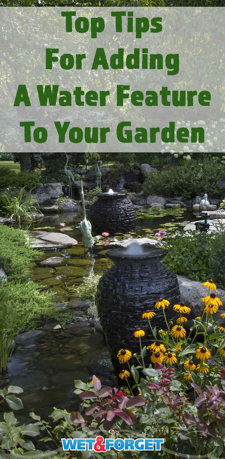 Discover the top tips for adding a water feature to your backyard or garden!