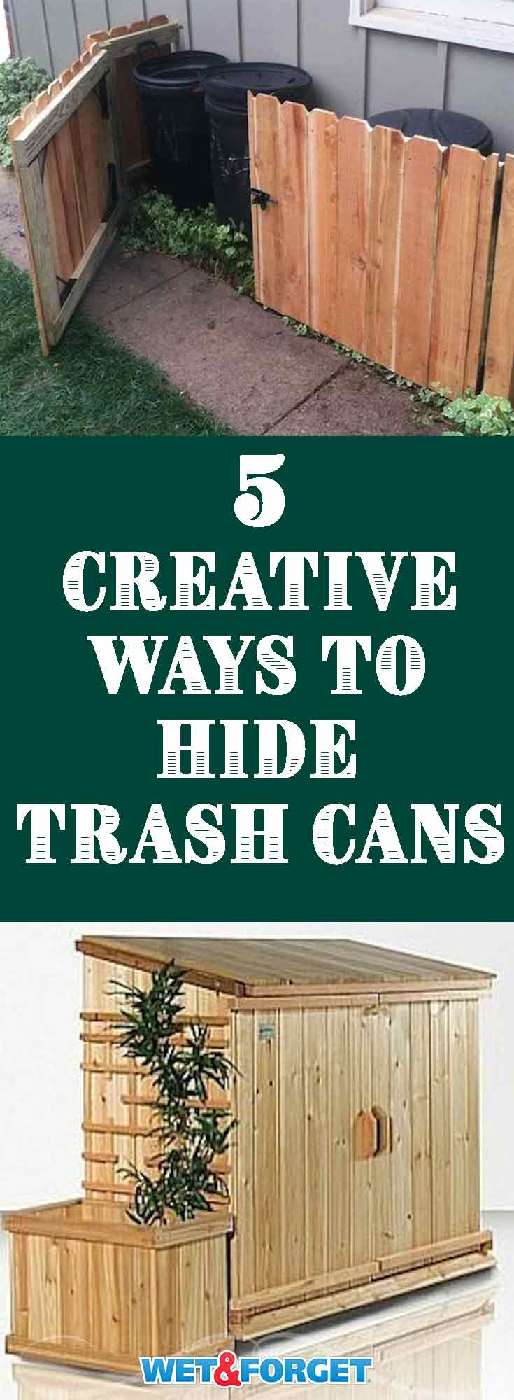5 creative ways to hide trash cans around your home