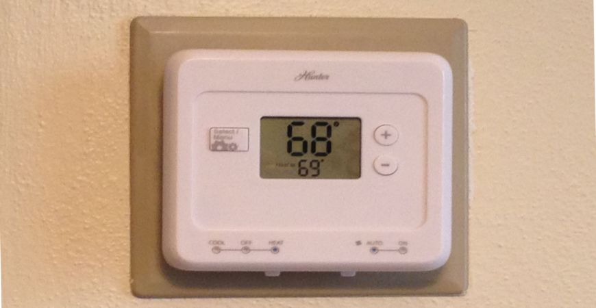 Installing a programmable thermostat