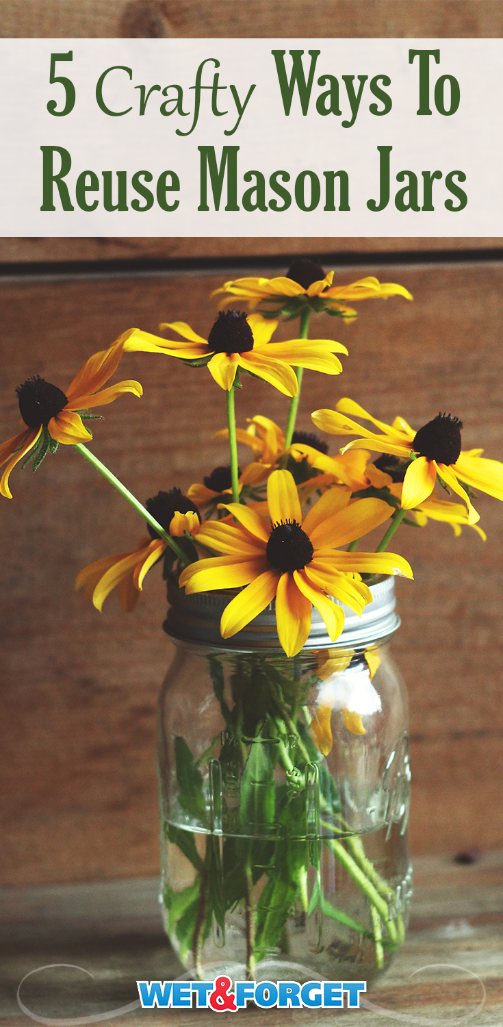 Here are 5 different ways to utilize your mason jars.