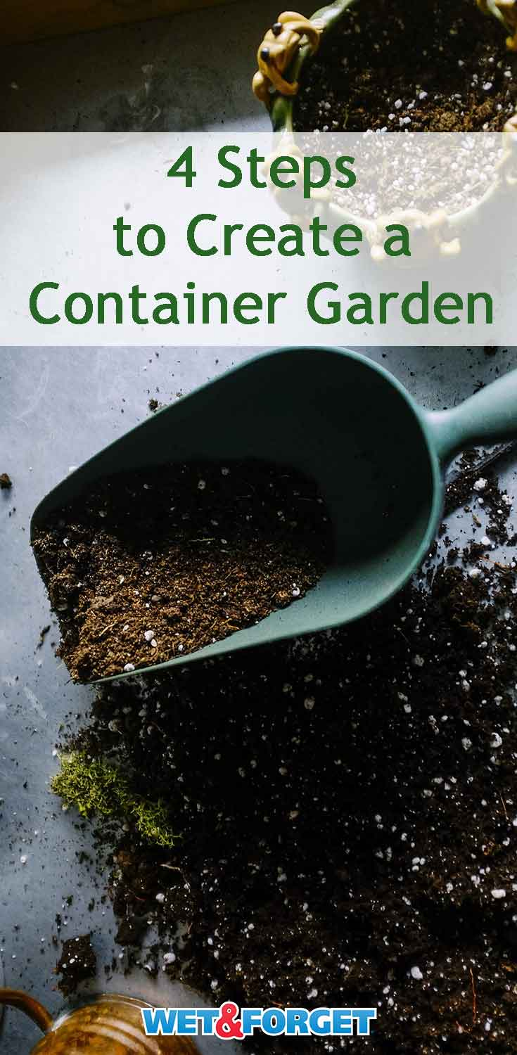 Easily create a container garden by following these 4 simple steps!