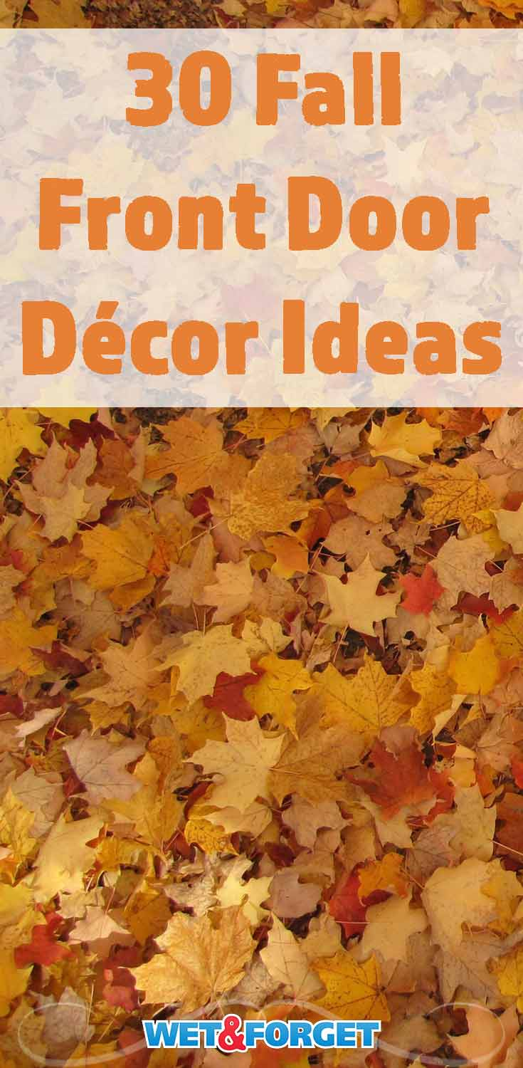 Need some inspiration for your fall decorations? Check out these clever DIY front door décor ideas!