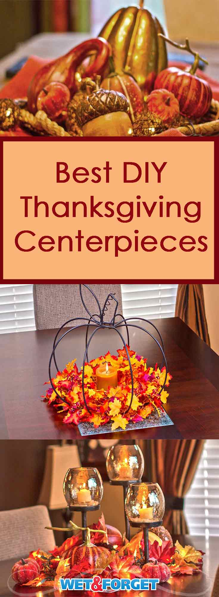 Decorating your Thanksgiving table is easy with these DIY centerpieces!