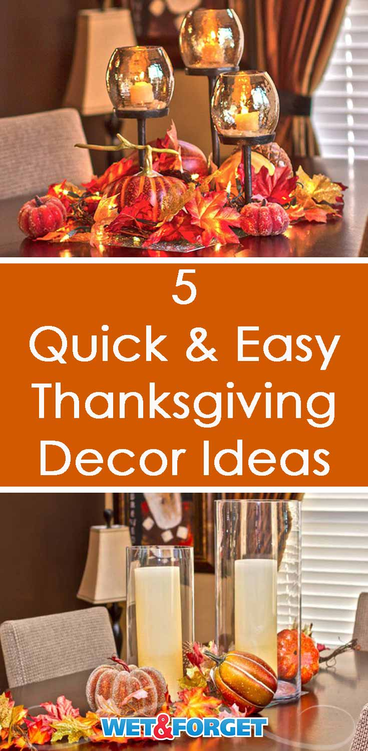 Decorating for the upcoming Thanksgiving holiday doesn't have to be difficult! Follow our tutorial for these festive Thanksgiving centerpieces!