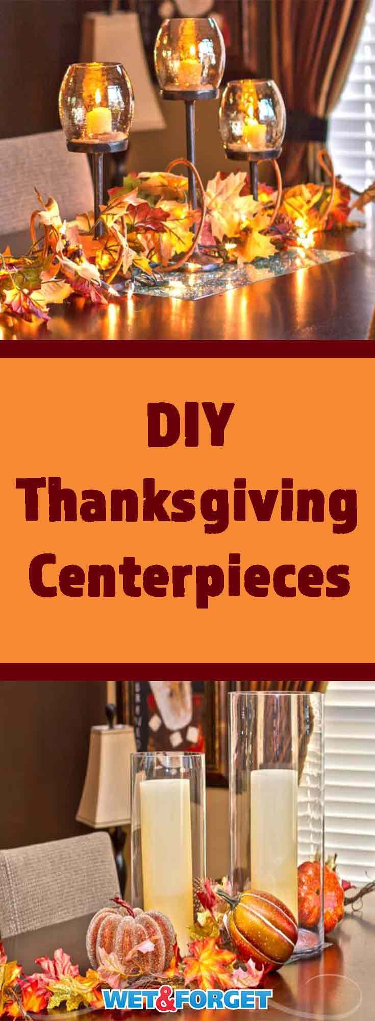 Are you decorating for Thanksgiving last minute? Use one of our quick and easy DIY Thanksgiving centerpiece ideas!
