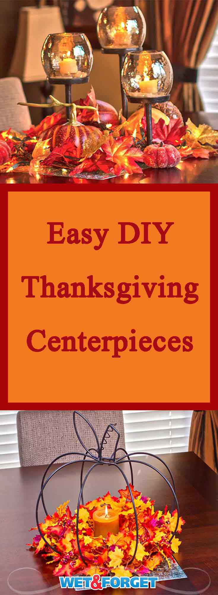 Thanksgiving is almost here! Finish up your Thanksgiving decorating by making one of these easy DIY Thanksgiving centerpieces.