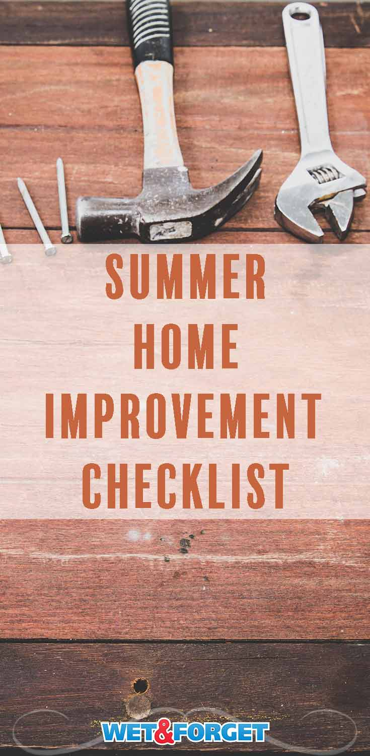 Keep your home in tip top shape throughout the summer season by following this checklist!