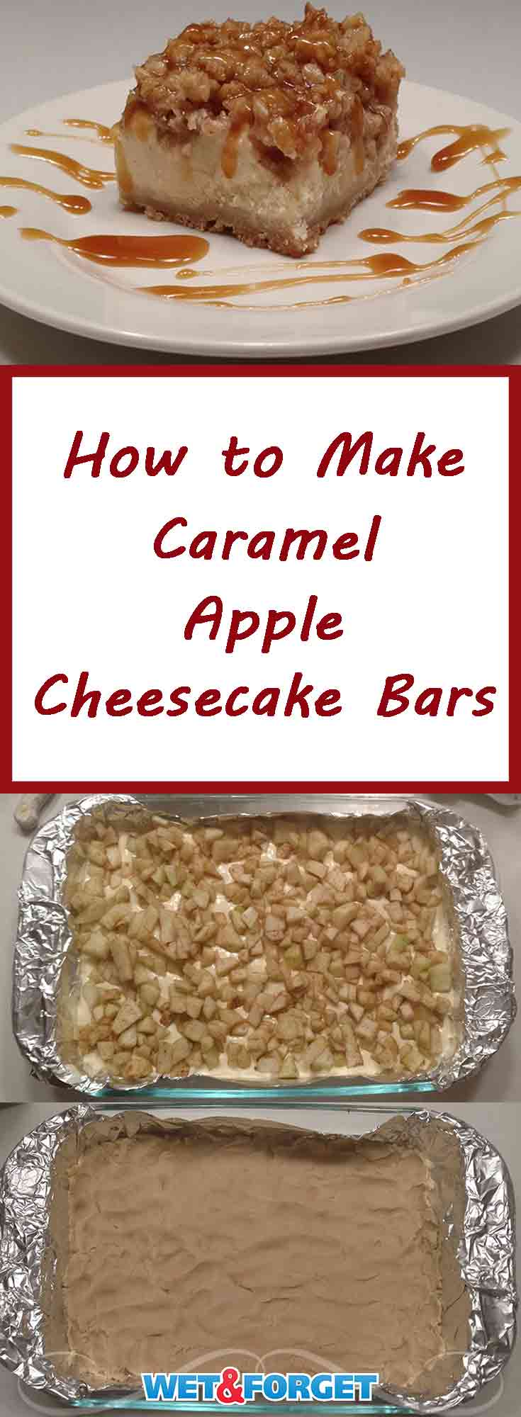 Need a new fall dessert recipe? These caramel apple cheesecake bars are the perfect dessert! The cinnamon and nutmeg sprinkled apples along with the caramel topping bring out the best flavors of fall.