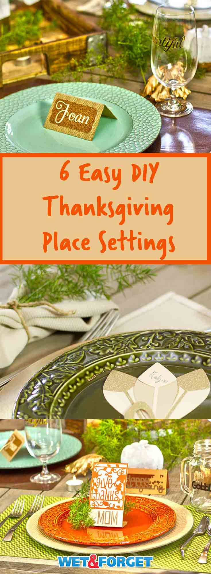 Decorating your Thanksgiving table can be difficult and time consuming. We gathered 6 different place setting ideas for you to use on your Thanksgiving table this year. Our quick and easy tutorials help simplify each place setting option.