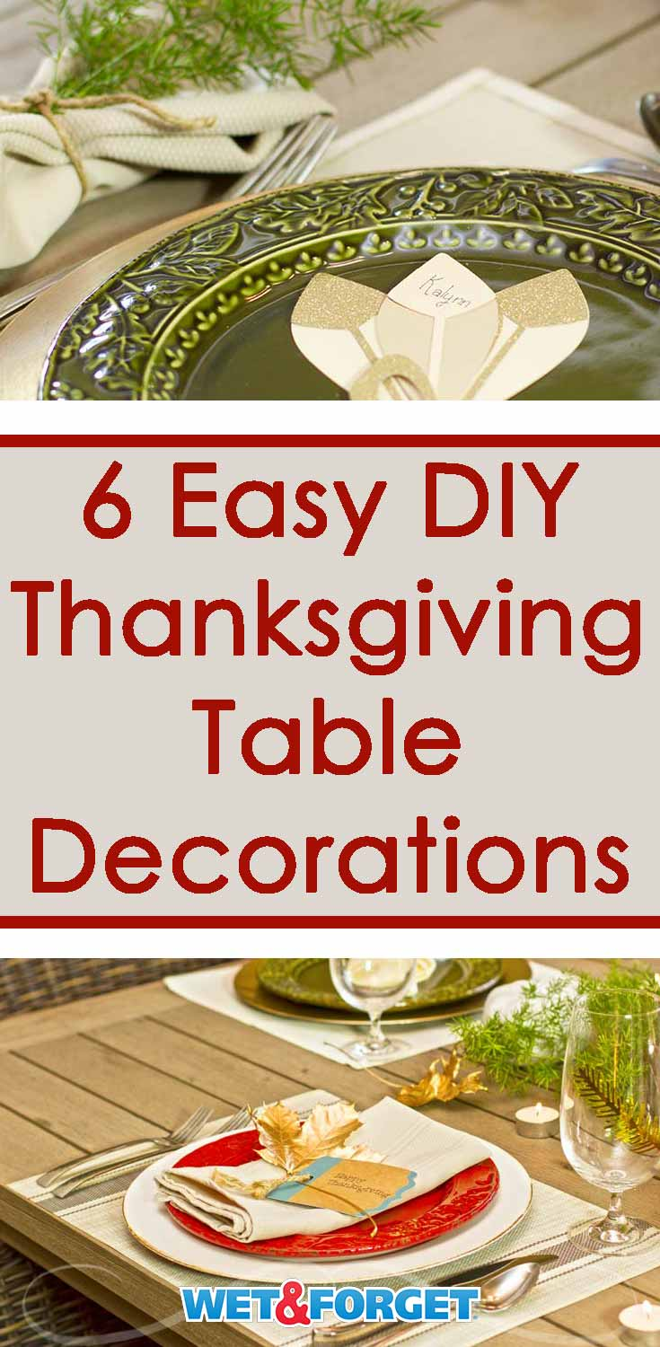 Thanksgiving is right around the corner! Finish up prepping your decorations with these quick and easy DIY table decoration ideas!