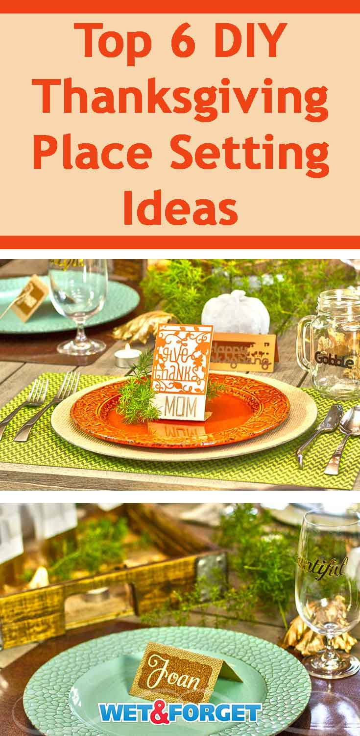 Not sure how you want to set your table this Thanksgiving? Try out one of our DIY place setting ideas.
