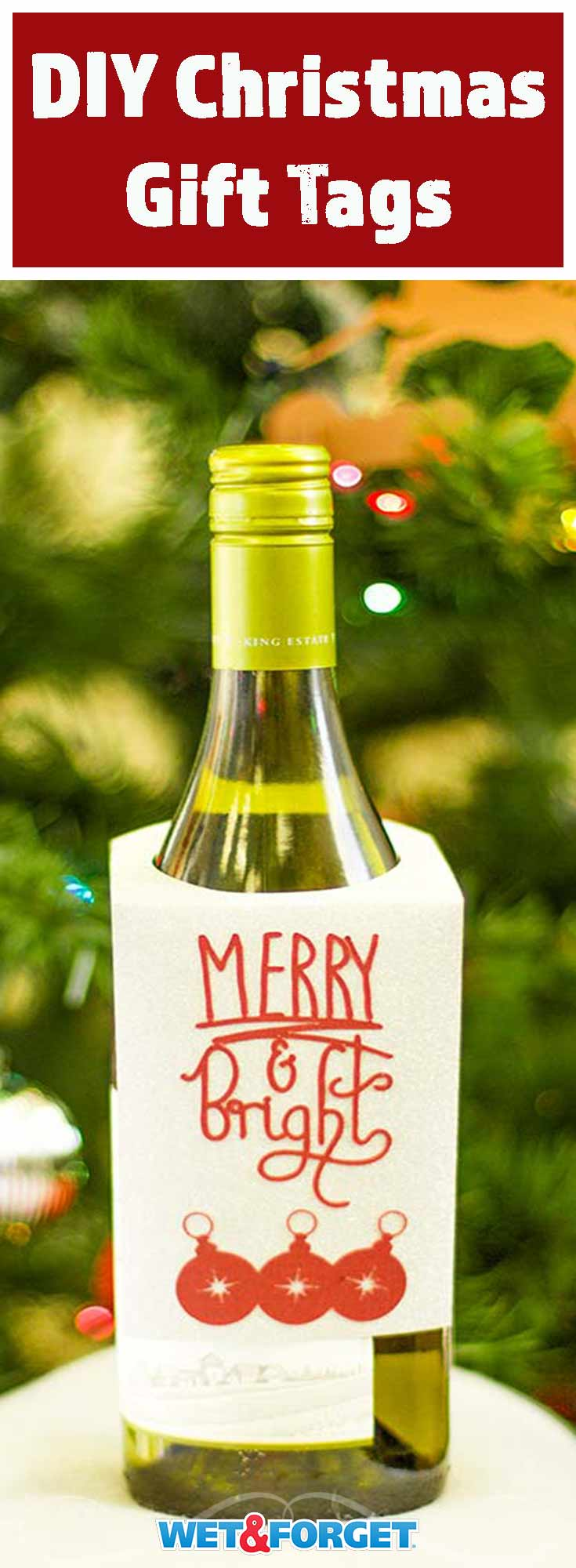 Christmas is right around the corner! Learn how to make your own wine bottle hang tag and other Christmas gift tags with our easy tutorials!
