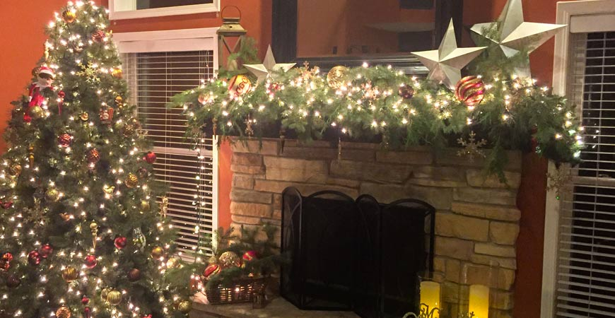 diy mantel christmas decoration ideas