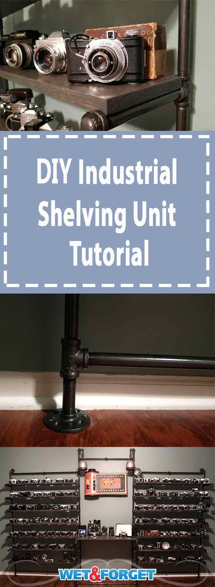 DIY Industrial Shelving Unit Tutorial