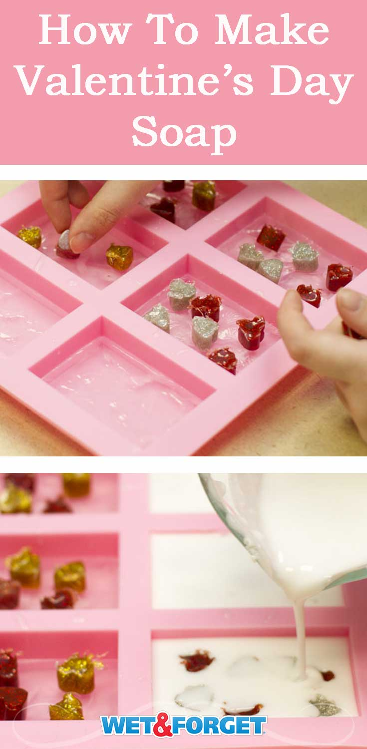 Get ready for the upcoming holiday by making Valentine's Day soap! Follow our easy step-by-step tutorial.