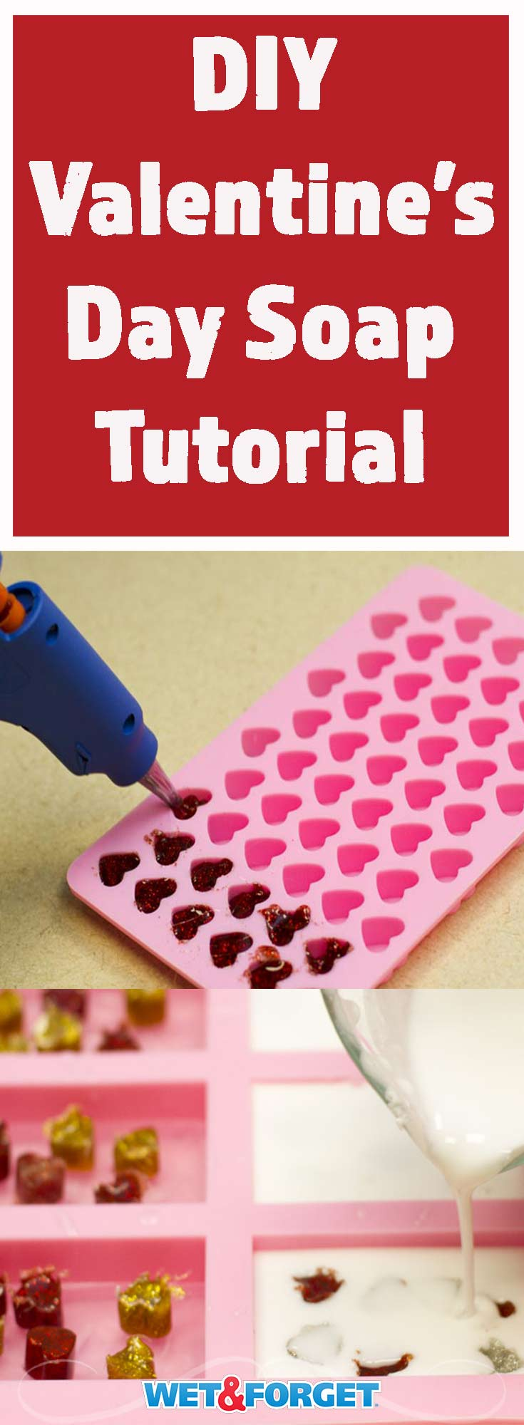 This Valentine's Day soap makes a great gift for the upcoming holiday! Learn how to make it with our easy tutorial.